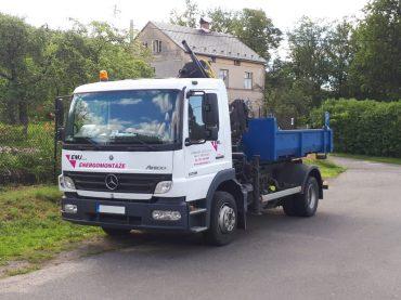 Mercedes-Benz Atego + přepravní kontejner + Hydraulická Ruka HIAB 071 (3,5t)