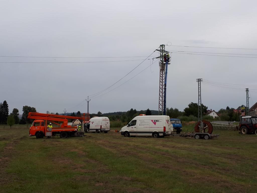 Višňová rekonstrukce vedení VN 22 kV