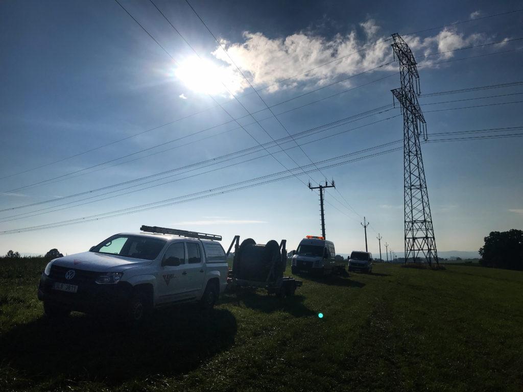 Nechálov -Trávníček,obnova,posil.VN 35 kV